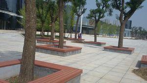 塑木园林凳